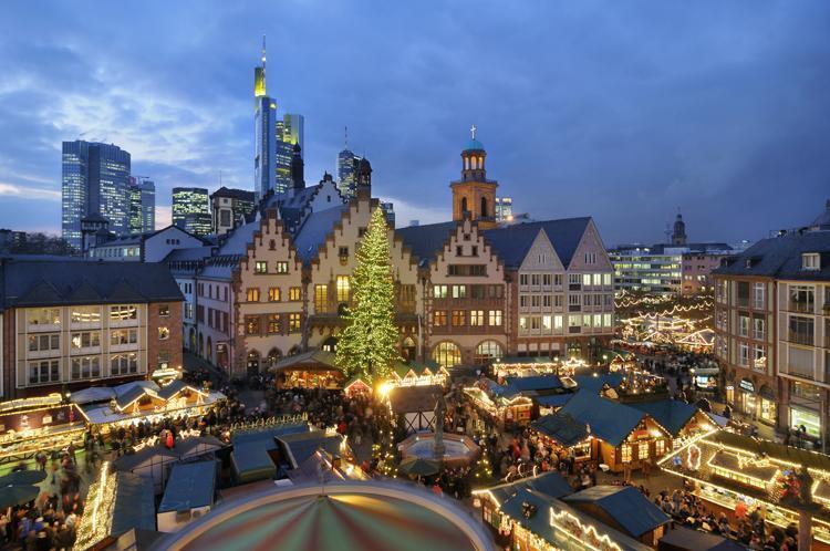 Kerstmarkt In Frankfurt Am Main Hessen
